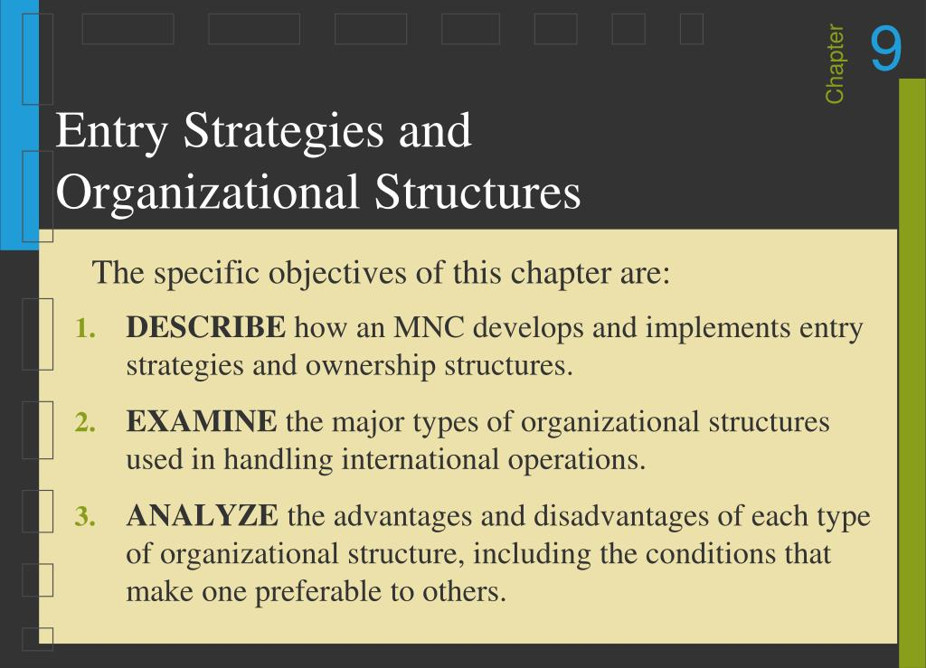 entry strategies and organizational structures l.