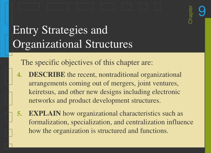 Entry strategies and organizational structures2