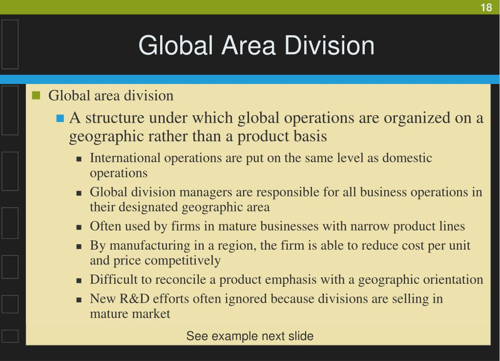 Global Area Division