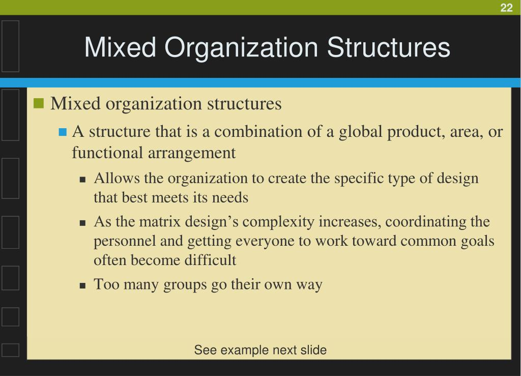 Mixed Organization Structures