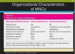 organizational characteristics of mncs34