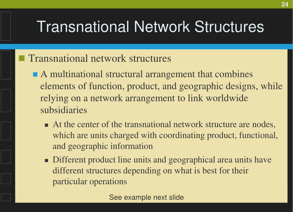 Transnational Network Structures