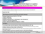 olympic restrictions impact on logistics 3 security control air and ocean export import