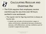 calculating regular and overtime pay