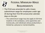 federal minimum wage requirements