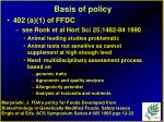 basis of policy