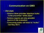 communication on gmo