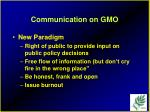communication on gmo91