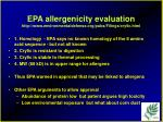 epa allergenicity evaluation http www environmentaldefense org pubs filings cry9c html