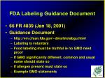 fda labeling guidance document