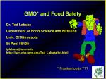 gmo and food safety