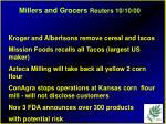 millers and grocers reuters 10 10 00