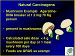 natural carcinogens