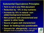 substantial equivalence principles