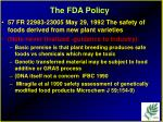 the fda policy