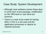 case study system development