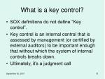 what is a key control