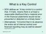 what is a key control18