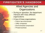 allied agencies and organizations