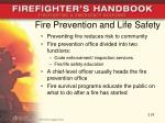 fire prevention and life safety