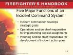 five major functions of an incident command system