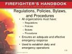 regulations policies bylaws and procedures