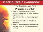 the business of fire protection cont d
