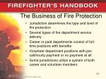 the business of fire protection