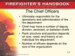 the chief officers