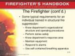 the firefighter cont d