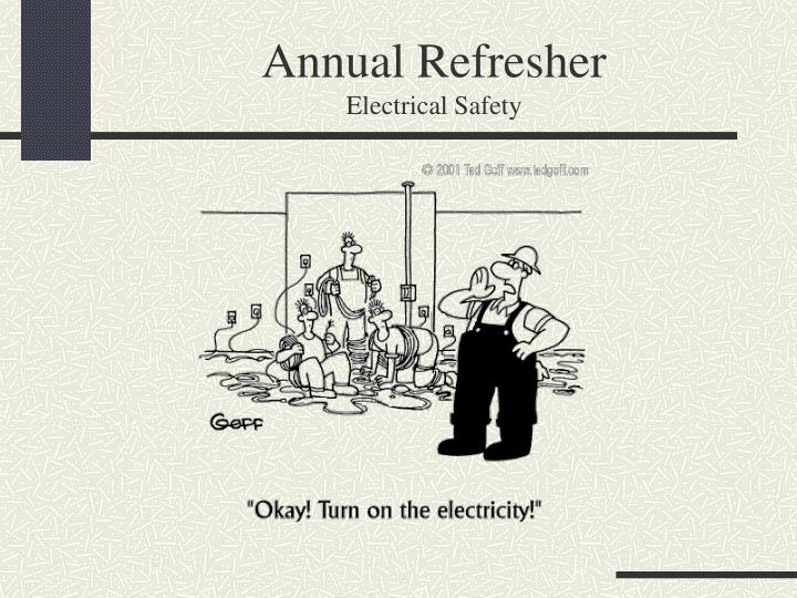 annual refresher electrical safety n.