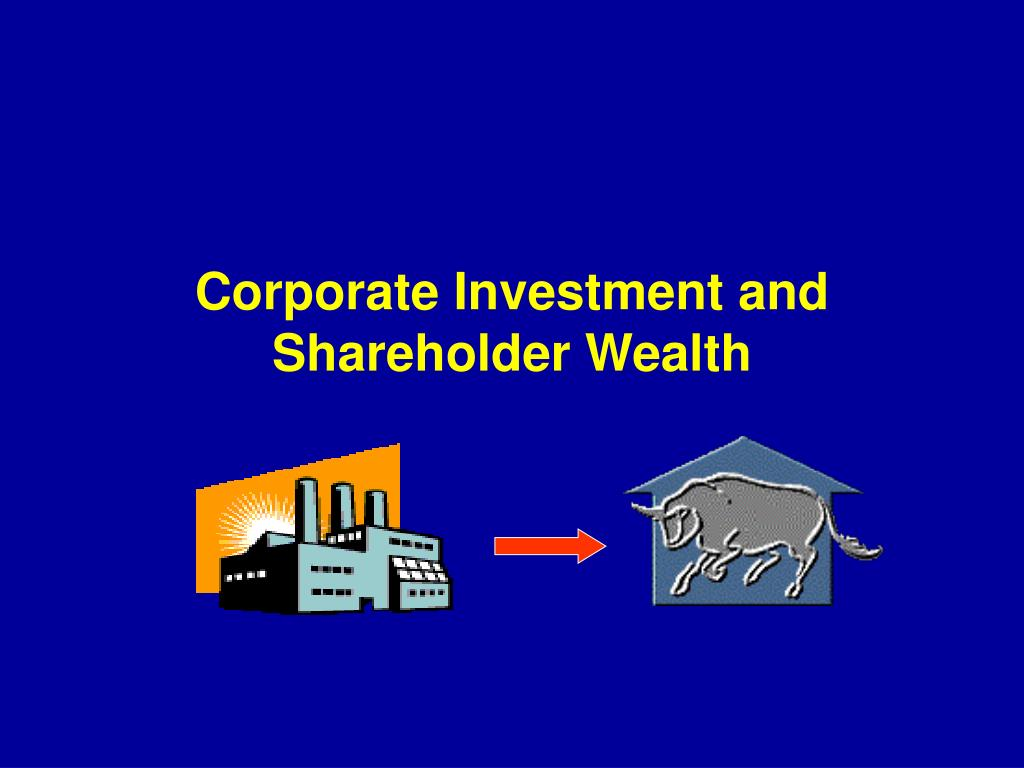 corporate investment and shareholder wealth l.