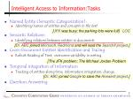 intelligent access to information tasks