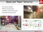 beam and near detector
