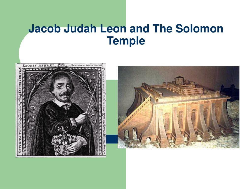 jacob judah leon and the solomon temple l.