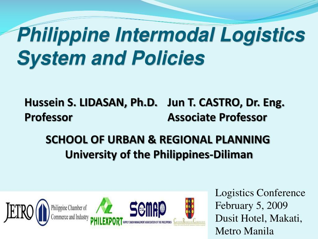 philippine intermodal logistics system and policies l.