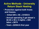 active methods university return stack heating