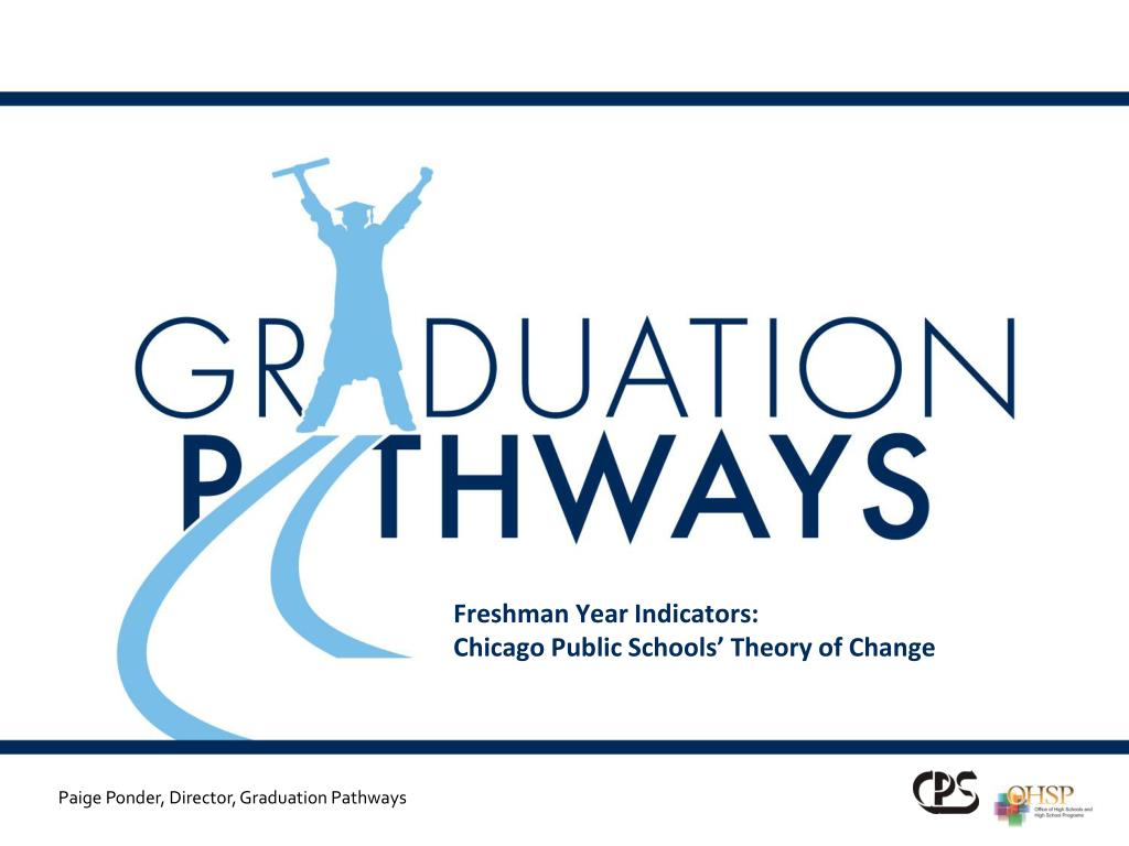 freshman year indicators chicago public schools theory of change l.