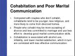 cohabitation and poor marital communication