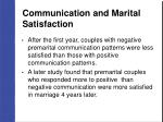 communication and marital satisfaction