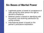 six bases of marital power37