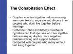 the cohabitation effect