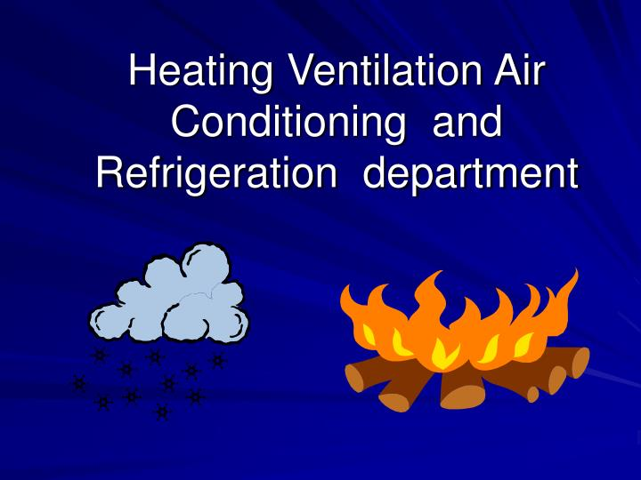 heating ventilation air conditioning and refrigeration department n.