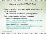 measuring the epeat goal