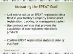 measuring the epeat goal8
