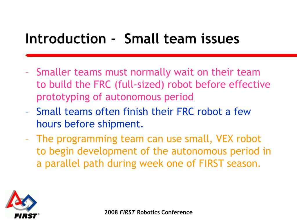 Introduction -  Small team issues