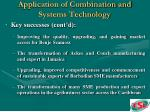 application of combination and systems technology20