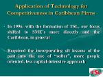 application of technology for competitiveness in caribbean firms