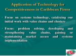 application of technology for competitiveness in caribbean firms18