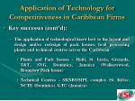 application of technology for competitiveness in caribbean firms21